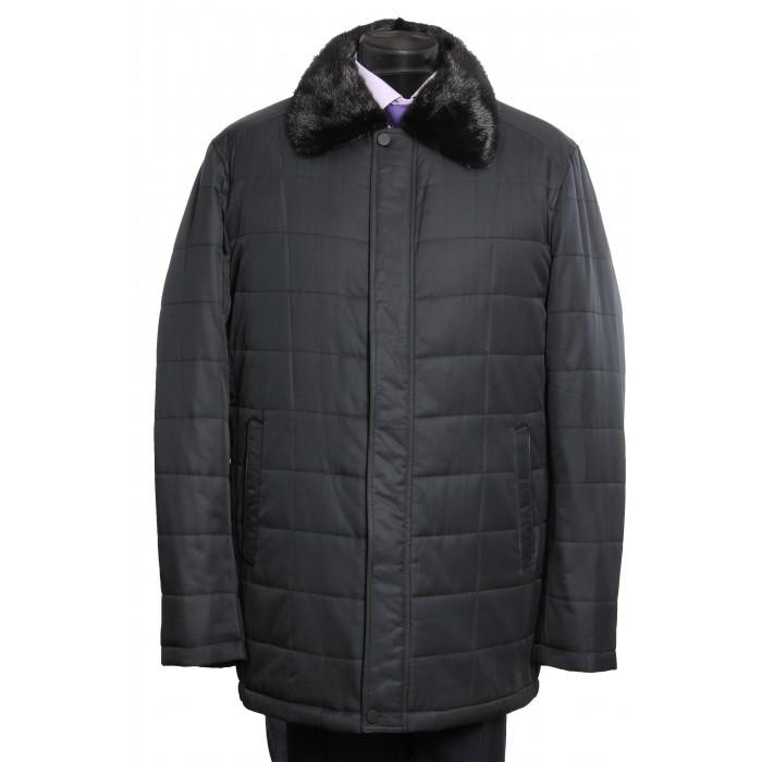Куртка классическая воротник норка 8938